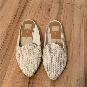 White Slip-on Smoking Slippers by Dolce Vita